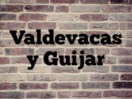 Valdevacas y Guijar